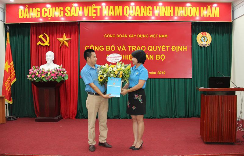 Công đoàn Xây dựng Việt Nam: Bổ nhiệm Trưởng ban Chính sách - Pháp luật