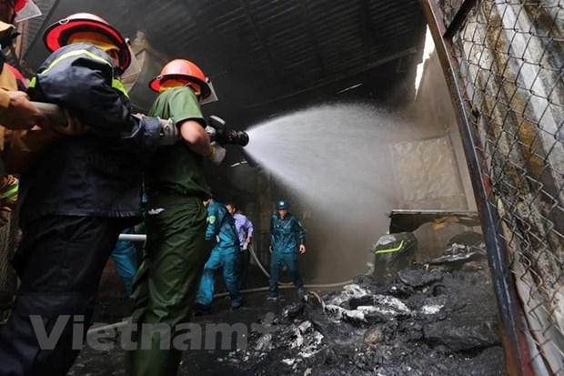 Đã cơ bản khống chế được vụ cháy tại Khu công nghiệp Sài Đồng B