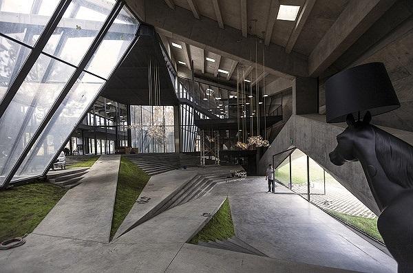 Kiến trúc khu triển lãm cà phê như 'nhà hát của giấc mơ' gây choáng ngợp