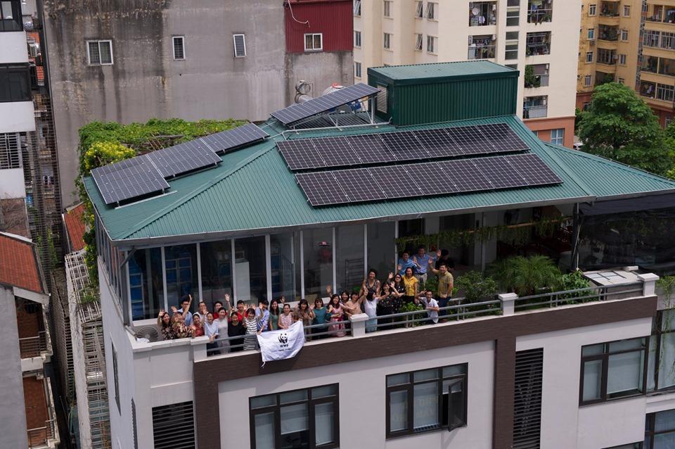 WWF Việt Nam giảm 50% lượng điện tiêu thụ nhờ pin mặt trời