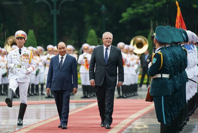 Thủ tướng Nguyễn Xuân Phúc đón, hội đàm với Thủ tướng Australia
