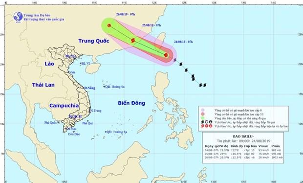 Bão Bailu sẽ đi vào các tỉnh Phúc Kiến, Quảng Đông của Trung Quốc