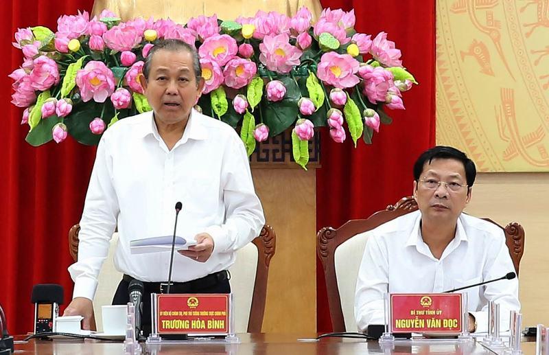 Phó Thủ tướng Thường trực Chính phủ làm việc tại Quảng Ninh