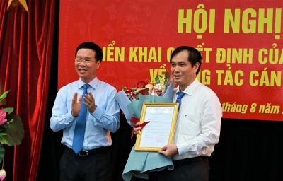 Bổ nhiệm ông Phan Xuân Thủy giữ chức Phó trưởng Ban Tuyên giáo TW