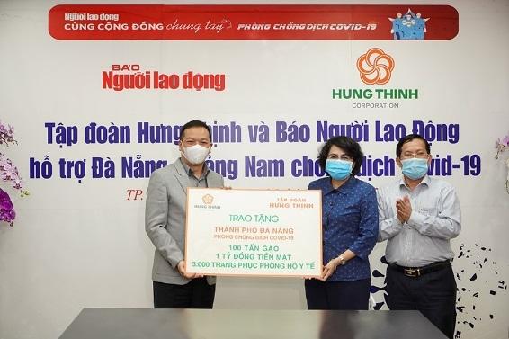 Hưng Thịnh tiếp sức cho Đà Nẵng và Quảng Nam phòng chống dịch Covid -19