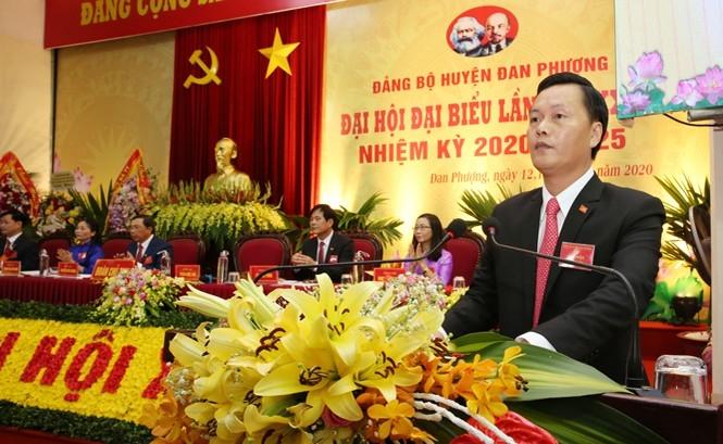 Đồng chí Trần Đức Hải tái đắc cử Bí thư huyện ủy Đan Phượng