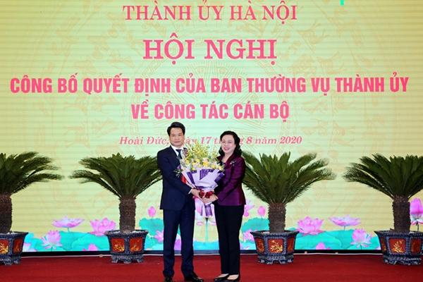 Bí thư Huyện ủy Hoài Đức làm Trưởng ban Nội chính Thành ủy Hà Nội