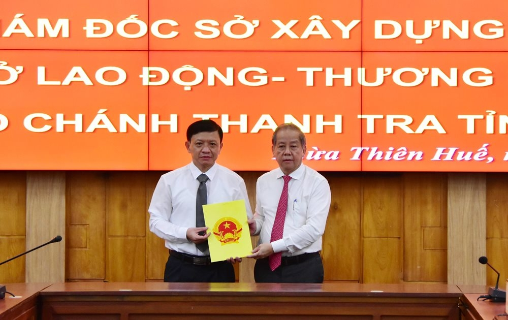 Ông Nguyễn Đại Viên được bổ nhiệm làm Giám đốc Sở Xây dựng Thừa Thiên – Huế