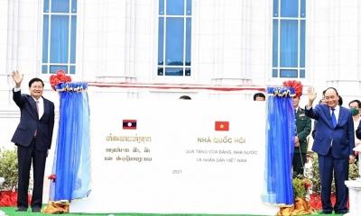 Bàn giao công trình Nhà Quốc hội Lào