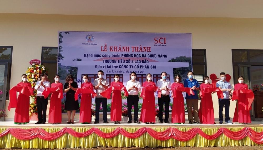 Quảng Trị: Khánh thành phòng học đa chức năng do Công ty Cổ phần SCI tài trợ