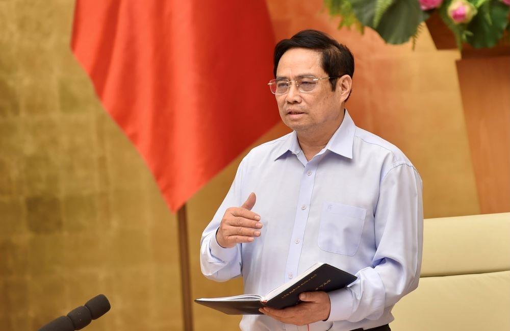 Thủ tướng Phạm Minh Chính chủ trì cuộc họp trực tuyến với 20 tỉnh, thành phố về phòng chống dịch COVID-19