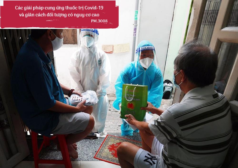 Các giải pháp cung ứng thuốc trị Covid-19 và giãn cách đối tượng có nguy cơ cao