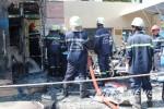 Cháy lớn tại Chi nhánh Viettinbank, thiêu rụi nhiều xe máy