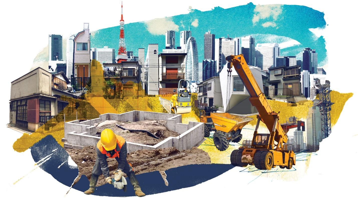 Công trình xây dựng tại Nhật (ảnh minh họa từ internet)