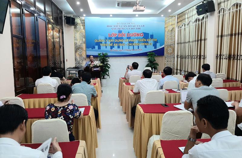 Sở Xây dựng TP Đà Nẵng tổ chức Khóa đào tạo về quản lý xây dựng và phát triển đô thị theo Đề án 1961