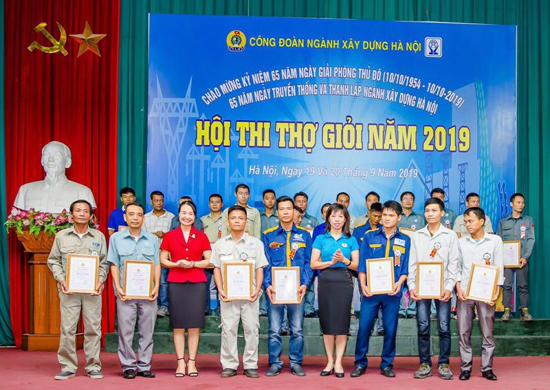 Hội thi thợ giỏi nghề cơ khí ngành Xây dựng Hà Nội năm 2019