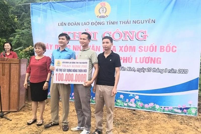 Thái Nguyên: Liên đoàn Lao động tỉnh hỗ trợ xây nhà văn hóa