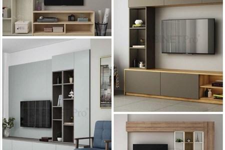 Biến tấu nội thất phòng khách với những mẫu kệ tivi hiện đại