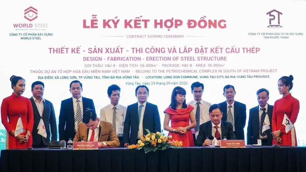 Ký kết hợp tác thiết kế - sản xuất - thi công gói thầu trị giá 10 triệu USD tại dự án Hóa lọc dầu Long Sơn