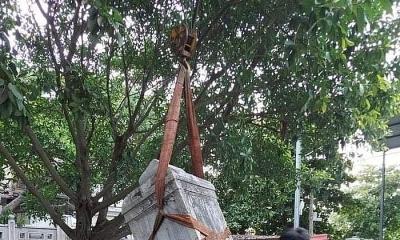 Tu bổ chùa ở Bắc Giang, vỡ bia đá cổ hàng trăm năm tuổi