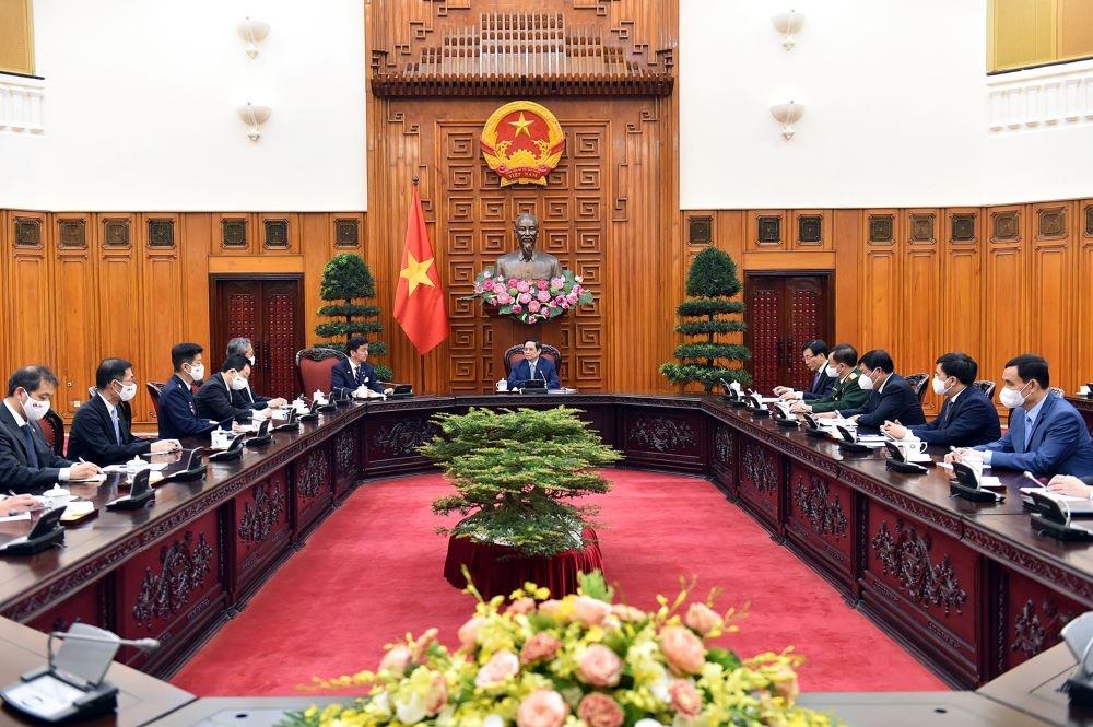 Thủ tướng Chính phủ Phạm Minh Chính tiếp Bộ trưởng Bộ Quốc phòng Nhật Bản