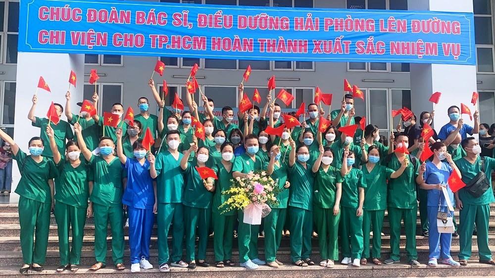 Hải Phòng: 50 cán bộ, nhân viên y tế tham gia hỗ trợ chống dịch cho Thành phố Hồ Chí Minh đợt 2