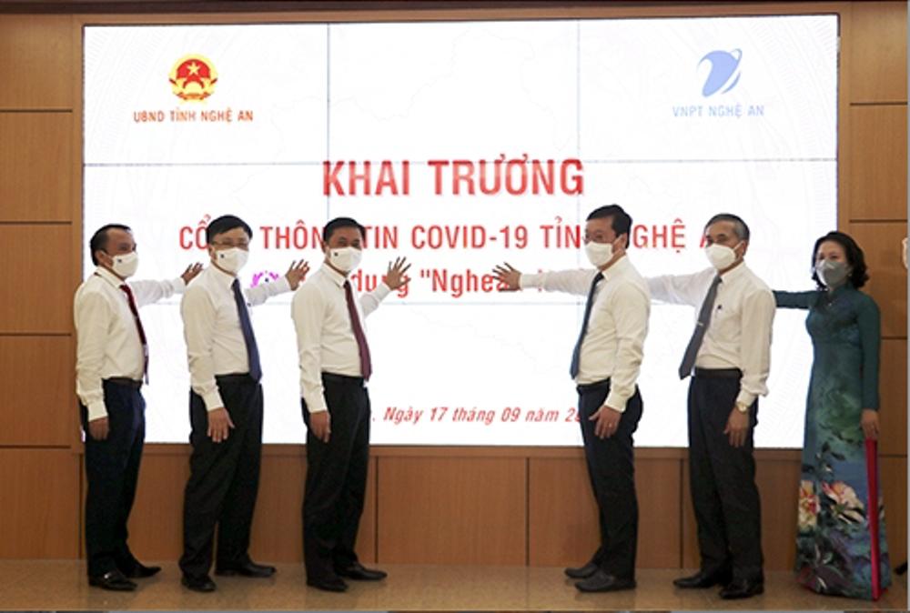 Nghệ An: Khai trương vận hành Cổng thông tin Covid-19