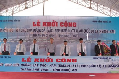 Nghệ An: Khởi công cầu vượt đường sắt dài 1,1km