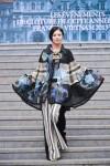 Trình diễn áo dài thổ cẩm Việt Nam tại Pháp
