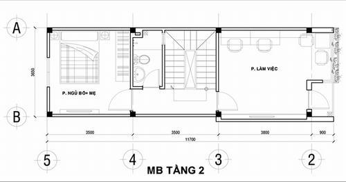 000900baoxaydung image002 Thiết kế kiến trúc nhà ống 50 m2 có 2 mặt thoáng