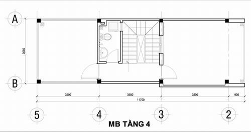 000901baoxaydung image004 Thiết kế kiến trúc nhà ống 50 m2 có 2 mặt thoáng