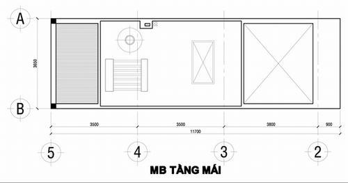 000901baoxaydung image005 Thiết kế kiến trúc nhà ống 50 m2 có 2 mặt thoáng