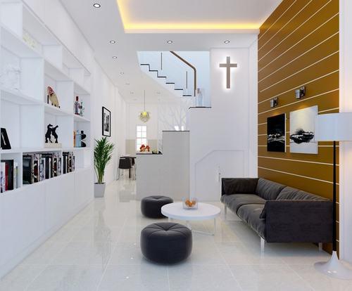 000902baoxaydung image007 Thiết kế kiến trúc nhà ống 50 m2 có 2 mặt thoáng