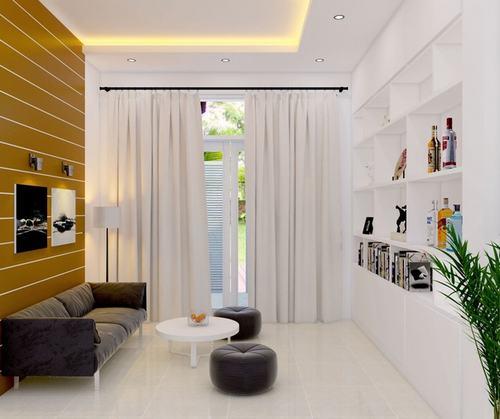 000903baoxaydung image008 Thiết kế kiến trúc nhà ống 50 m2 có 2 mặt thoáng