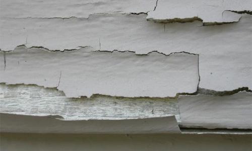 Matit và sơn bị bung ở tường mặt trong là do đâu?