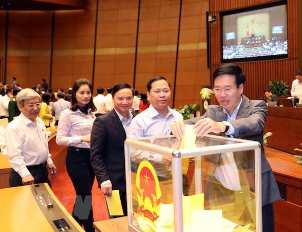 Quốc hội bắt đầu bỏ phiếu kín và kiểm phiếu bầu Chủ tịch nước