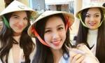 Thuỳ Tiên tặng nón lá, ghi điểm thân thiện ở Hoa hậu Quốc tế 2018