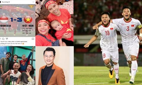 Nhiều sao Việt được phong 'thánh dự đoán tỉ số' khi Việt Nam thắng Indonesia