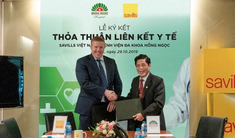 Savills Việt Nam ký kết thỏa thuận liên kết y tế với Bệnh viện đa khoa Hồng Ngọc