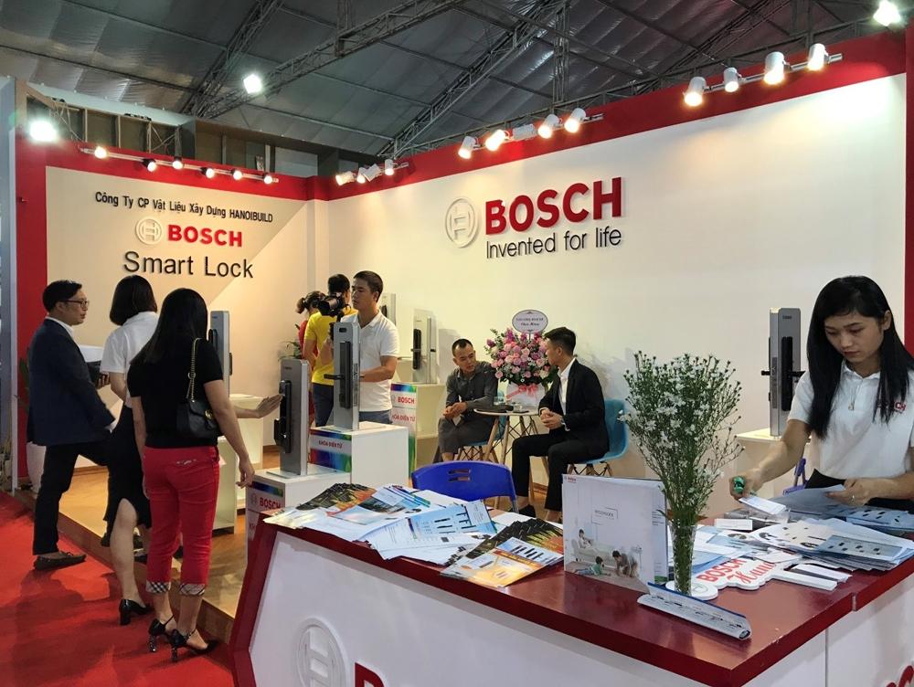 Bosch Smart Lock thu hút nhiều khách tham quan tại Triển lãm Vietbuild Hà Nội