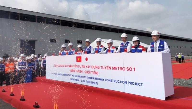 Thành phố Hồ Chí Minh: Ra mắt đoàn tàu đầu tiên của tuyến Metro số 1