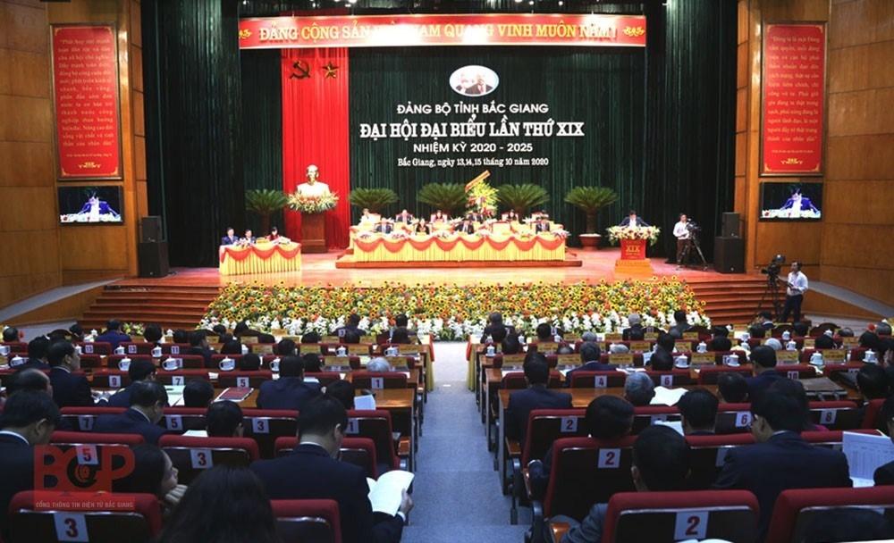 Bắc Giang: Khai mạc Đại hội đại biểu Đảng bộ tỉnh lần thứ XIX, nhiệm kỳ 2020 – 2025