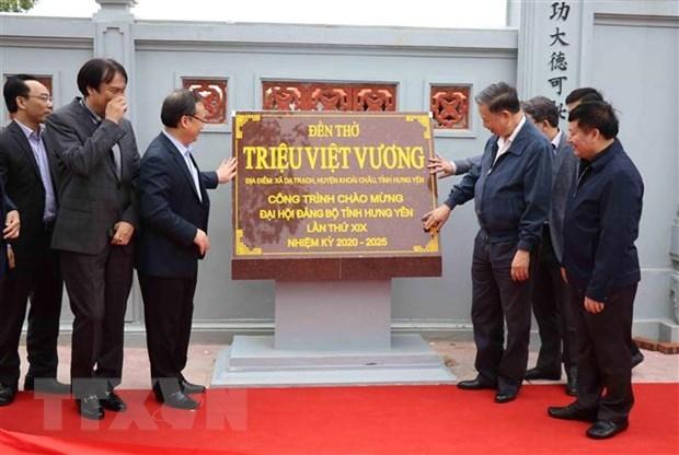 tuong to lam du le gan bien cong trinh mung dai hoi dang bo hung yen