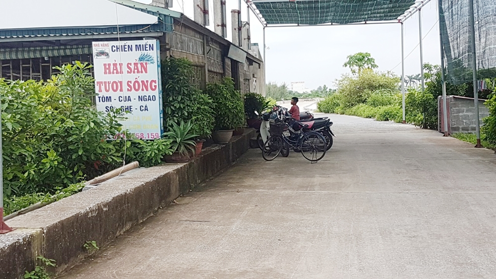 thai binh ganh nang tram khacong trinh xay dung trai phep tren de