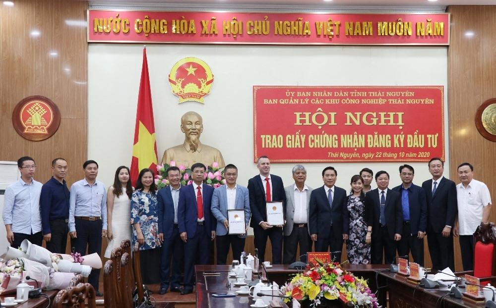 Thái Nguyên: Thêm 2 dự án được trao giấy chứng nhận đầu tư