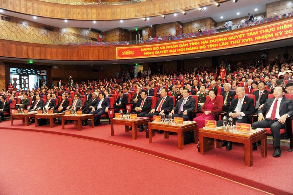 Khai mạc trọng thể Đại hội đại biểu Đảng bộ tỉnh Hải Dương khóa XVII