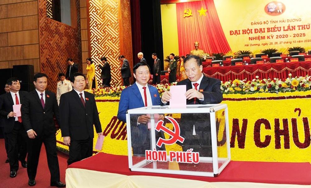 Đại hội đại biểu Đảng bộ tỉnh Hải Dương bầu 52 đồng chí vào Ban Chấp hành khóa XVII