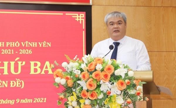 Vĩnh Phúc: Đồng chí Nguyễn Việt Phương được bầu giữ chức Chủ tịch UBND thành phố Vĩnh Yên