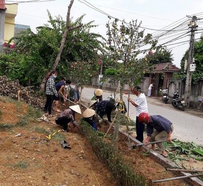 Lập Thạch (Vĩnh Phúc): Đẩy nhanh tiến độ xây dựng nông thôn mới nâng cao, thôn dân cư kiểu mẫu