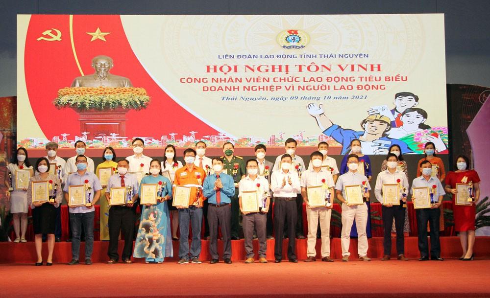 Thái Nguyên: Tôn vinh 60 cá nhân và 25 doanh nghiệp vì người lao động